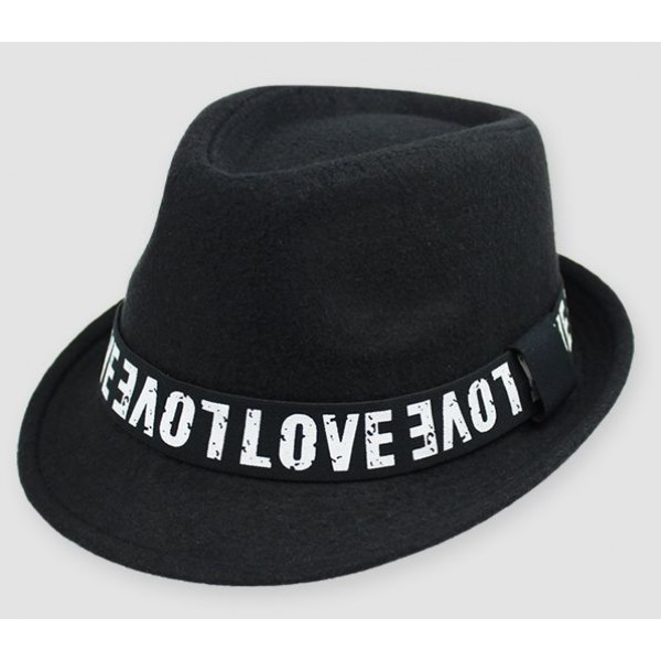 Black Love Woolen Funky Gothic Jazz Dance Dress Bowler Hat