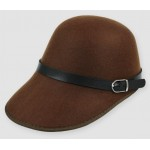 Brown Woolen Horse Riding Rider Polo Cap Hat