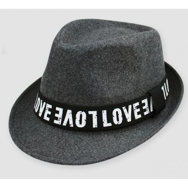 Grey Love Woolen Funky Gothic Jazz Dance Dress Bowler Hat