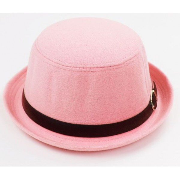 Pink Woolen Black Belt MJ Funky Gothic Jazz Dance Dress Bowler Hat