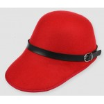 Red Woolen Horse Riding Rider Polo Cap Hat
