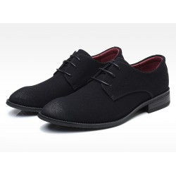 Black Suede Wingtip Lace Up Mens Oxfords Loafers Dapperman Dress Shoes Flats