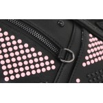 Black Pink Studs Gothic Punk Rock Backpack
