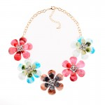 Rainbow Flowers Vintage Glamorous Bohemian Ethnic Necklace