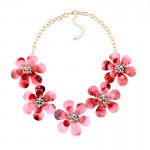 Red Flowers Vintage Glamorous Bohemian Ethnic Necklace