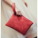 Red Vintage Oversized Envelope Clutch Bag Purse