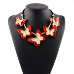 Red Butterfly Vintage Glamorous Bohemian Ethnic Necklace