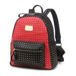 Black White Red Green Gold Studs Gothic Punk Rock Backpack