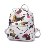 White Oil Painting Flowers Florals Punk Rock Backpack