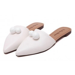 White Point Head Duo Balls Flats Flip Flop Sandals Shoes