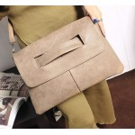 Khaki Vintage Gothic Punk Rock Oversized Envelope Clutch Bag Purse