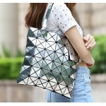 Silver and Various Color Triangle Geometric Square Shoulder Tote Bag