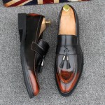 Brown Tassels Mens Oxfords Loafers Dress Dapper man Shoes Flats