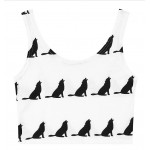 Black White Dogs Sleeveless T Shirt Cami Tank Top