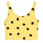 Yellow Black Jellyfish Sleeveless T Shirt Cami Tank Top