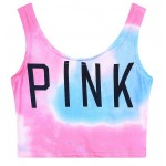 Pink Blue Universe Galaxy Sleeveless T Shirt Cami Tank Top