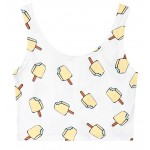 White Pink Yellow Popsicles Cartoon Sleeveless T Shirt Cami Tank Top