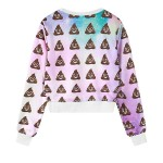 Pink Blue Rainbow Shit Whatsapp Emoji Long Sleeve Sweatshirts Tops