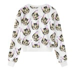 White Cat Faces Harajuku Funky Long Sleeve Sweatshirts Tops