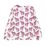 White Pink Unicorns Harajuku Funky Long Sleeve Sweatshirts Tops