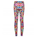 Rainbow Colorful Smarties Print Yoga Fitness Leggings Tights Pants