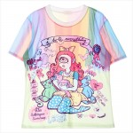 Pink I Hate Everything Rainbow Harajuku Comic Cartoon Short Sleeves T Shirt