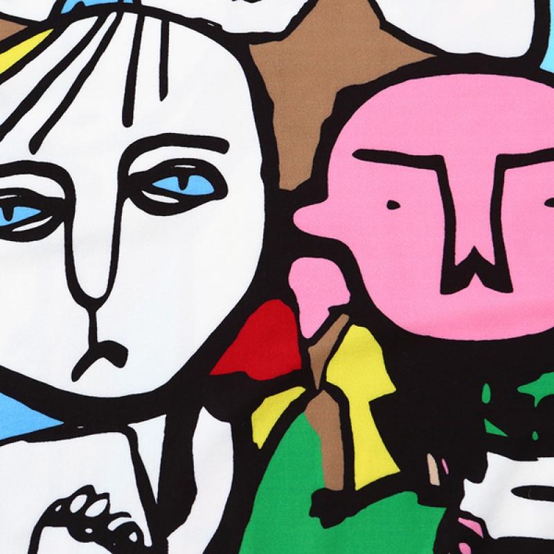 colorful abstract faces painting graffiti harajuku funky short sleeves t shirt top