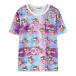 Purple Blue Rainbow Galaxy Ice-Cream Harajuku Funky Short Sleeves T Shirt