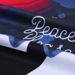 Black World Peace Please Fcuk Your Dream Funky Short Sleeves T Shirt Top