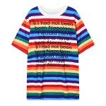 Rainbow Stripes Born Napoleon Alexander Short Sleeves T Shirt Top