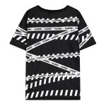 Black Warning Caution Tapes Funky Short Sleeves T Shirt Top