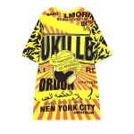 Yellow UKILLB No Requests Harajuku Funky Short Sleeves T Shirt Top