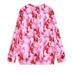 Pink Roses Flowers Floral Patels Funky Long Sleeve Sweatshirts Tops
