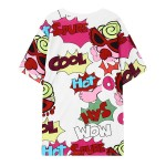 White Wow Cool Baby in Sunglasses Harajuku Funky Short Sleeves T Shirt Top