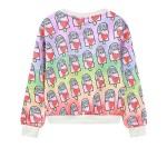 Purple Rainbow Damn Ice-Cream Harajuku Funky Long Sleeve Sweatshirts Tops