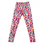 Colorful Color Pencils Print Yoga Fitness Leggings Tights Pants
