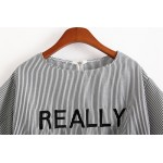 REALLY Short Sleeve T-shirt Striped T-shirt  Women Cropped Tops