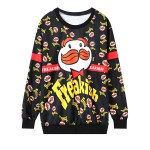 Black Freakish Mustache Man Long Sleeve Sweatshirts Tops