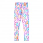 Pink Blue Jelly Beans Candies Cartoon Print Yoga Fitness Leggings Tights Pants