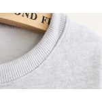 Blue Grey White Rabbit Long Sleeve Fleece Sweatshirts Tops