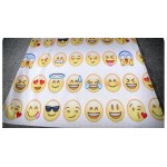 White Yellow Whatsapp Emoji Faces Net Sleeveless Mens T-shirt Vest Sports Tank Top