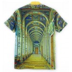 Lime Blue Medieval Renaissance Museum Gallery Short Sleeves Mens T-Shirt