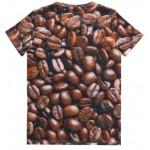 Brown Addicted to Coffee Beans Short Sleeves Mens T-Shirt