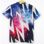 Blue Thunder Sparkles Galaxy Universe Short Sleeves Mens T-Shirt