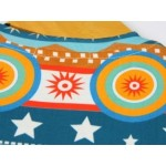 Orange Blue Tribal Ethnic Pattern Short Sleeves Mens T-Shirt