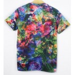 Blue Colorful Rainbow ARMY Short Sleeves Mens T-Shirt