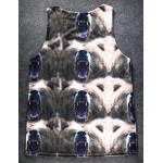 Khaki Fierce Polar Bears Net Sleeveless Mens T-shirt Vest Sports Tank Top