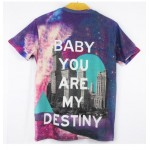 Purple Baby You Are My Destiny Short Sleeves Mens T-Shirt