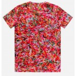 Red Colorful Chocolate Vermicelli Q Short Sleeves Mens T-Shirt