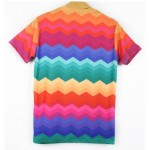 Rainbow ZigZag Days of Being Wild Short Sleeves Mens T-Shirt